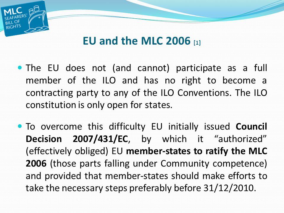 EU and the MLC 2006 [1]